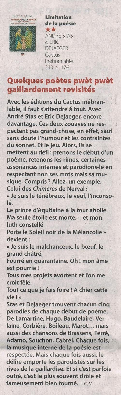 JC Van Troyen - Limitation de la poésie Le Soir du 16-01-21.jpg